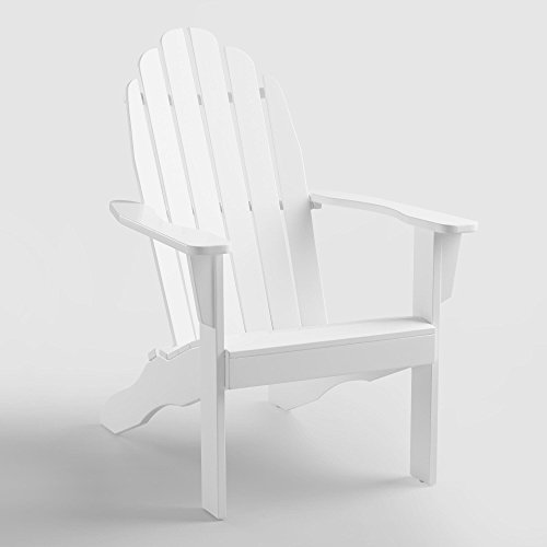 KV Adirondack Wooden Chair, White Color, Garden Furniture by KV Furniture