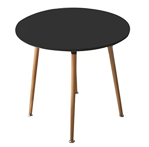 "CREATION YUSHENG Dining Circular Round Table, living room table with Wooden Legs (Round, Black) - Diameter*Height=31.4""x 28.7"" We provide Assembly Instructions and its easy to follow. Smooth MDF(Thickness:0.71"") top create an artistic dining table with the screws are made of strength steel. Superior strength and durability 'X' bearing structure ensure stable and sturdy. MDF top that makes clean-up simple and quick . - kitchen-dining-room-furniture, kitchen-dining-room, kitchen-dining-room-tables - 31QQwznJ0PL -"