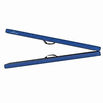 Cannons UK – Poutre de gymnastique d'entraînement pliable en simili daim 2, 4m 4m violet