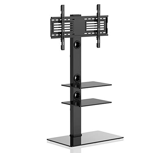 (FITUEYES Universal TV Stand with Swivel Mount Height Adjustable for 32-65 Inch,TT307001MB)