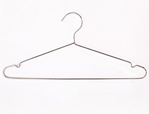 Pack Of 10 Adult Hanging Clothes Hanger Solid Stainless Stee