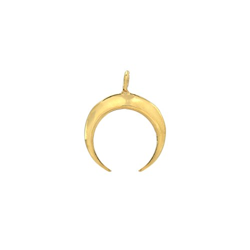 Gold Crescent Moon Charm - 1