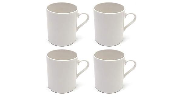 Maxwell Williams 5254346 - Juego de tazas de café (porcelana), color blanco: Amazon.es: Hogar
