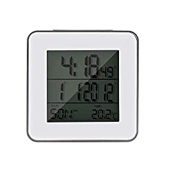 JIMEI Portable Digital Travel Alarm Clock with Date,Temperature, Snooze,Time Zone, DST and World Time for 32 Cities with Battery Operated Desk Clock for Indoor,Outdoor,Bedroom,Office