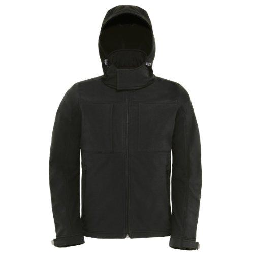 Hooded Softshell   Men COLOUR schwarz Größe M