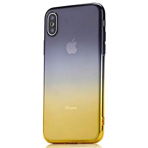 Felfy Kompatibel mit iPhone XR H/ülle Transparent Silikon Crystal Clear Durchsichtige Cover Case Handyh/ülle Ultra D/ünn Soft Weich Gel TPU Kratzfest Sto/ßfest Schutzh/ülle,Lila Blau