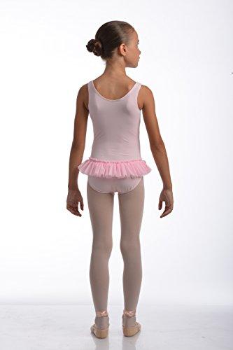VAMA Mod. AMBRA Ballett-Trikot in der Farbe hellrosa. Große 2 (6-7 Jahre)