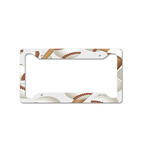 Style in Print Baseball Bats Sport Auto Car License Plate Frame Tag Holder 4 Hole - Baseball License Plate Plates Tags