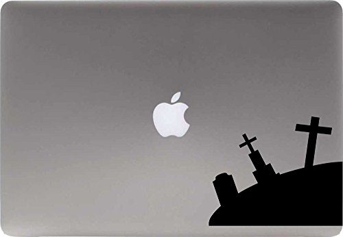 [Graveyard Right Version 1 Vinyl Decal Sticker for Computer Macbook Laptop Ipad Electronics Home Window Custom Walls Cars Trucks Motorcycle Automobile and More] (Cute Halloween Ghosts Clipart)