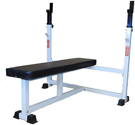 TDS 1000 lb. Rated Olympic Flat Bench with Adjustable Uprights and Deluxe Padding