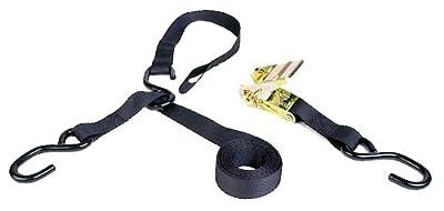 Kwik Tek TDR-38 Triple Hook Ratchet PWC Tie Down With Soft Hook (8 Feet)