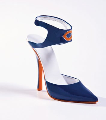 (NFL Chicago Bears Decorative Team Shoe Collectible Statuette)