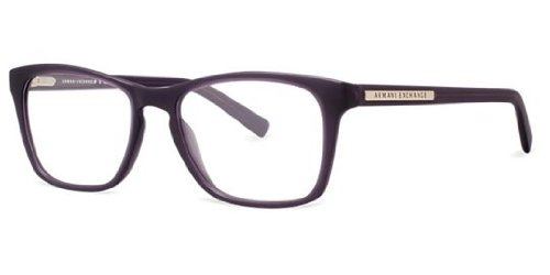 Armani Exchange AX 3012 Unisex Eyeglasses Matte Black Transparent - Eyeglasses Armani