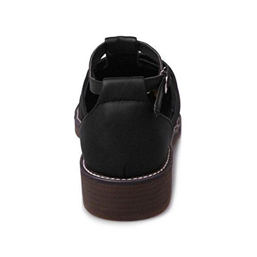 Tacon Ancho Mujer 30 RAZAMAZA Black Bombas Zapatos qSBw4Z