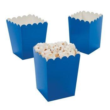 Amazon.com: 24 Mini Popcorn Boxes - Blue - Party Favor & Goody ...