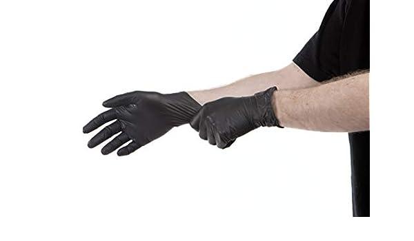 Negro M // Set de 100/piezas /talla/ mutexil 8887777-m guante nitrilo sin polvo color/ /Juego de 100