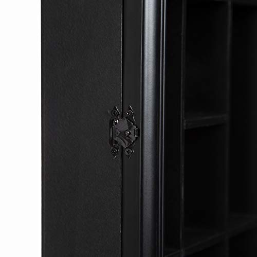 Gallery Solutions 18x16 Shot Glass Display Case with Hinged Front in Black by Gallery Solutions (Image #4)