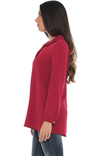 Freesketch - Camisas - para mujer burdeos