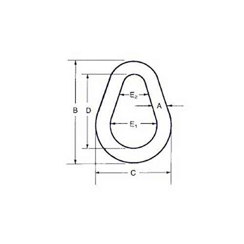 5//8 Pear Link for Wire Rope
