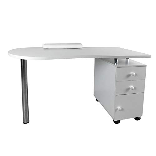 Simoner Beauty Manicure Nail Table Station, Movable for sale  Delivered anywhere in USA