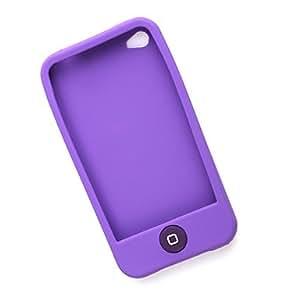 CL - Funda protectora de silicona para el iPhone 4 (morado)