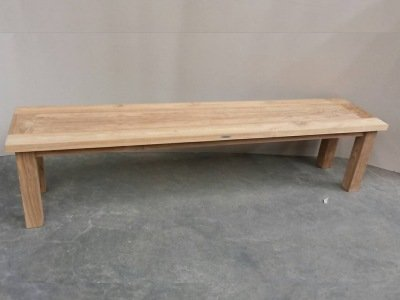 Atlanta Teak Furniture   Reclaimed Teak Backless Bench   3 Seater