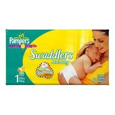 Pampers Swaddlers Gift Pack (40 Newborn & 40 Size 1 Diapers)