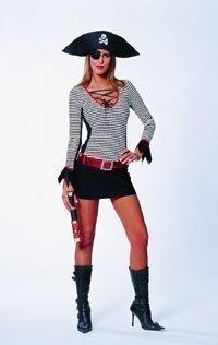 Kvinnor Medel 8-10 Pirater Skatt Damer Kostym (teleskop Och Stövlar Ingår Ej)