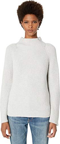 Vince Women's Funnel Neck Sweater, Light Heather Grey, ()