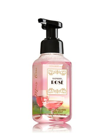 Bath & Body Works RASPBERRY ROSE gentle foaming hand soap 8.75 fl oz.