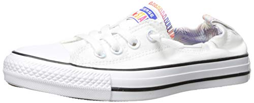 Converse Women's Chuck Taylor Shoreline All of The Stars Sneaker, White/Black, 10 M US (Sneakers Womens Converse On Slip)