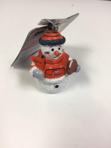 Officially Licensed NFL Snowman Football Fan Ornament Denver Broncos