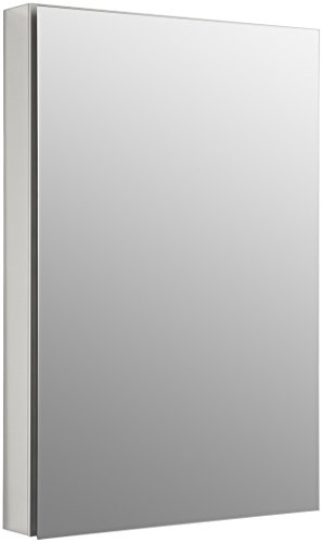 Kohler K-2936-PG-SAA Catalan Mirrored Cabinet with 107° Hinge, Satin Anodized Aluminum