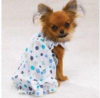 Casual Canine Polka Dot Sundress – Blue – Small, My Pet Supplies