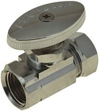 DURAPRO 101635 5/8'' OD x 1/2''/7/16'' Chrome West Coast Straight Stop Slip Joint by DuraPRO