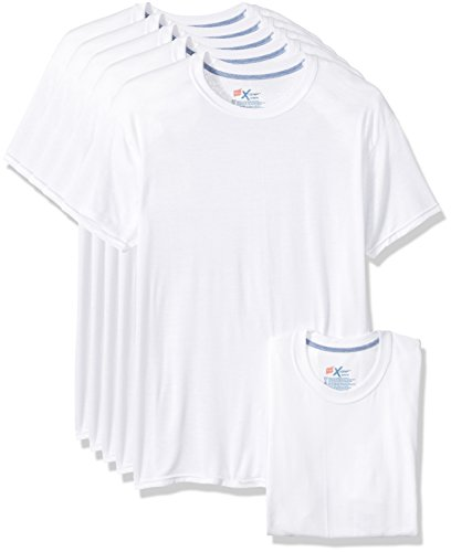 Moisture Wicking Undershirts - Hanes Men's 5-Pack X-Temp Comfort Cool Crewneck Undershirt, White, Medium