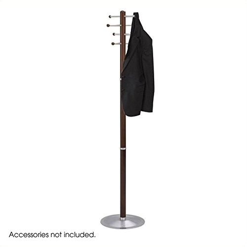 (Safco Products 4193CY Wood Costumer Coat Rack Tree, Cherry )