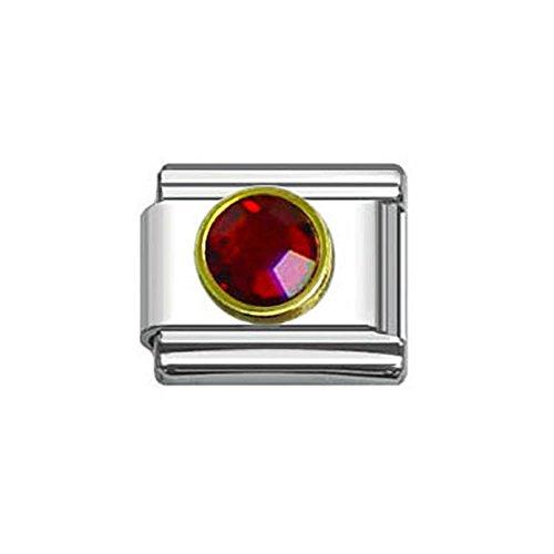 Rhinestones Italian Charm Bracelet 9mm Link Choose Your Birthstone From (Birthstone Italian Charm Bracelet Link)