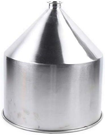 Embudo industrial de acero inoxidable DiLiBee, 40 l, embudo de acero inoxidable, embudo de llenado contra ácidos y alcalinos, corrosión