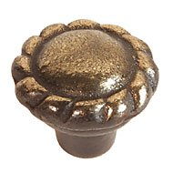 Brass Chateau Mushroom Knobs - 1