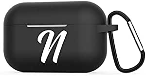 Protective Case For Apple AirPods Pro 2019 Black - Letter N