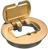 Carlon E97BRR Thomas & BETTS Floor Box Kit, Brass