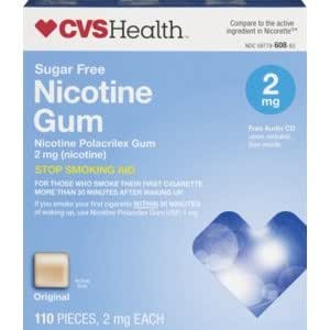 cvs nicotine polacrilex gum 2 mg original 110 pieces health personal care. Black Bedroom Furniture Sets. Home Design Ideas