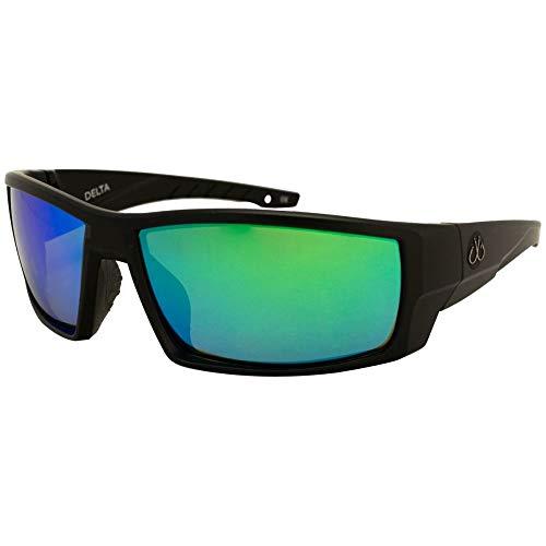 Filthy Anglers Delta Polarized Sport Fishing Sunglasses for Men & Women EP Green Mirror Lens 100% UV ()