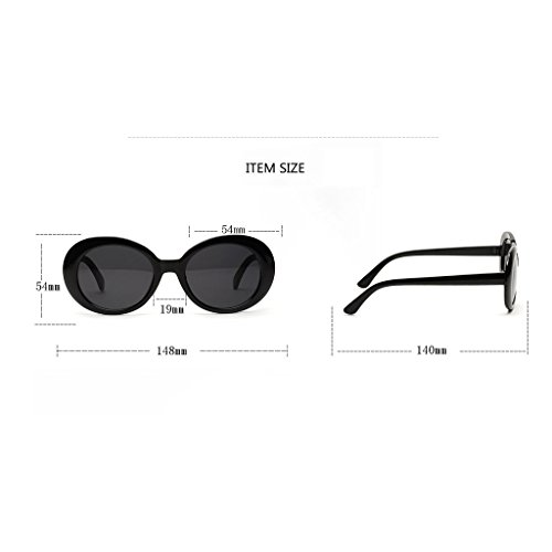 Occhiali Da Eyewear Nero Sole Di Modo Unisex Spiaggia Rotondi Magideal wZXulOPkTi