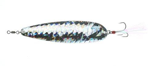 """Nichols Lures FS1-118 5"""" Lake Fork Flutter Spoon Shatter Glass Silver, 1 1/8 oz"""