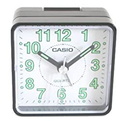 Casio TQ140 Travel Alarm Clock - Bla Clock Radios