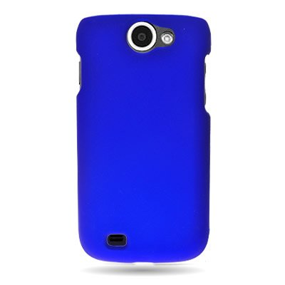 For Samsung Exhibit II 4G / Galaxy Exhibit 4G T679 - Hard Snap On Case Slim Rubberized Plastic Cover by CoverON - Blue