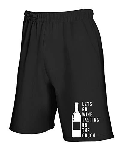 Pantaloncini Nero shirtshock On The T Tuta Go Tasting Lets Wine Couch Wes0078 xHfwBqw