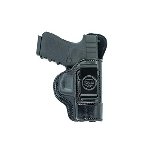 Maxx Carry Inside The Waistband Leather Holster for Beretta PX4 Storm Sub Compact. IWB Holster with Clip Conceal Carry. Black Right Hand. (Holster For Beretta Px4 Storm Compact 9mm)